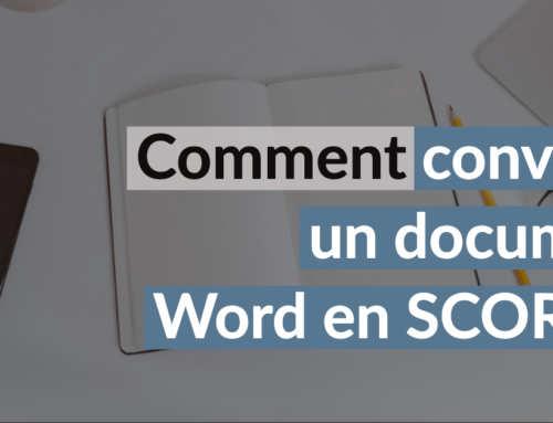 Convertir un word en scorm