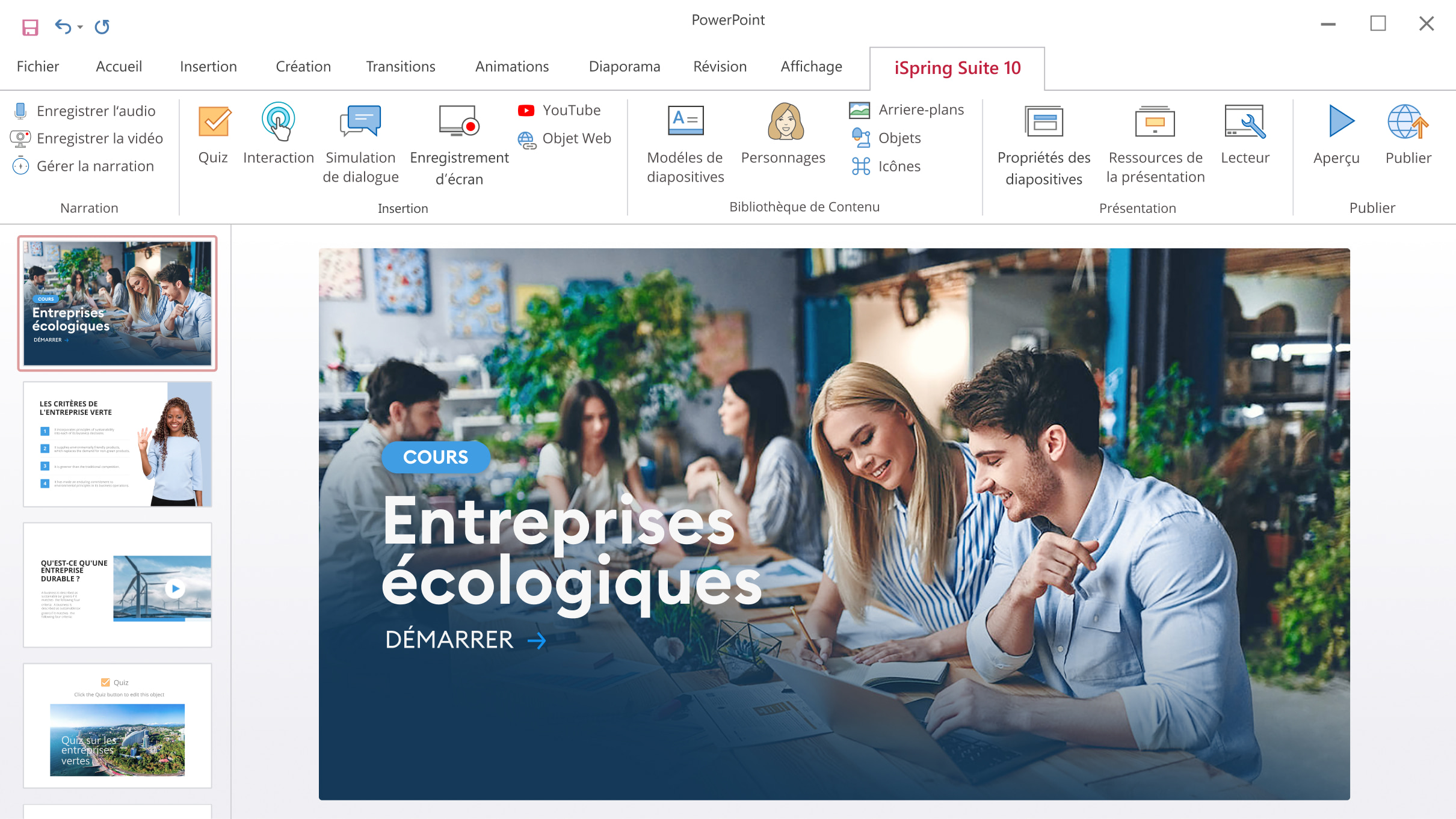 ispring suite cours