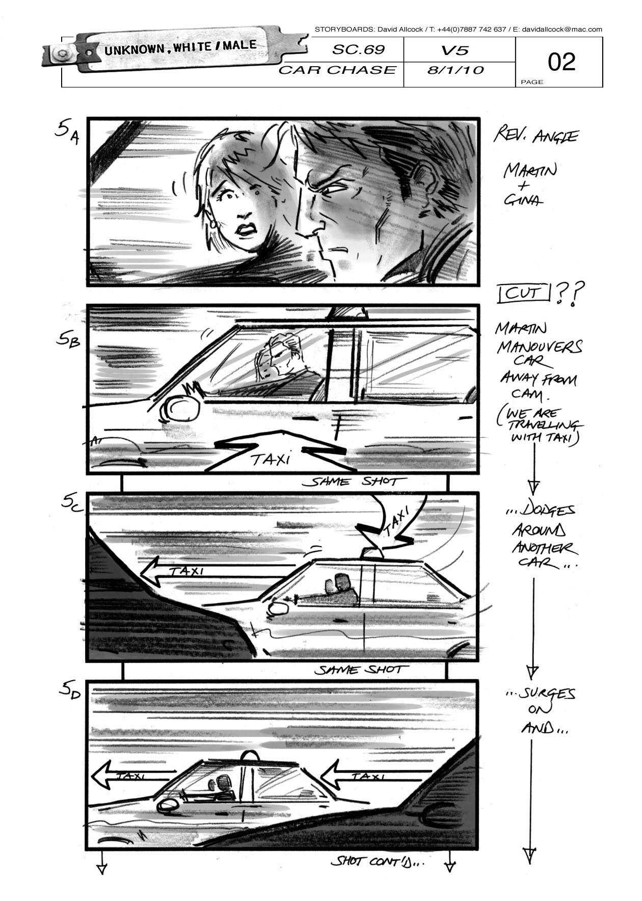 Storyboard du film Unknown de Jaume Collet-Serra